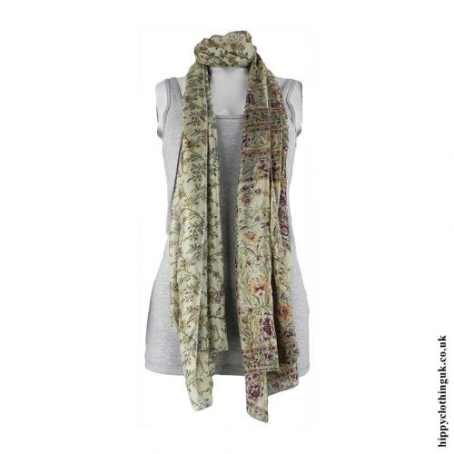 Floral-Recycled-Sari-Scarf