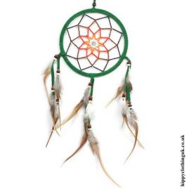 Green-Beaded-Flower-Dreamcatcher