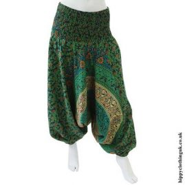 Green-Cotton-Throw-Ali-Baba-Trousers