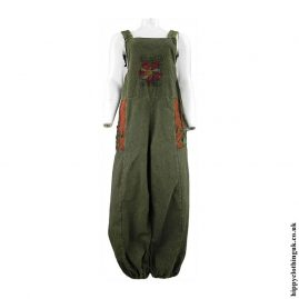 Green-Hippy-Dungarees-with-Flower-EmbroideryGreen-Hippy-Dungarees-with-Flower-Embroidery