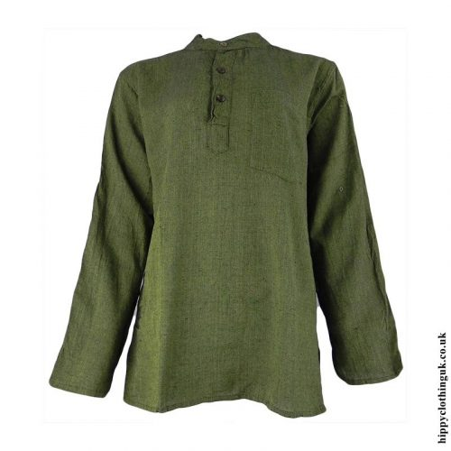 Green-Plain-Grandad-Shirt