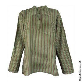 Green-Striped-Grandad-Shirt