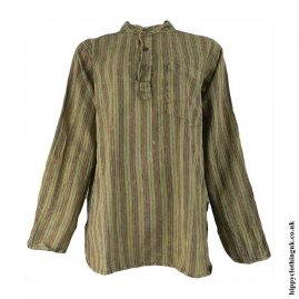 Green-Striped-Grandad-Shirt