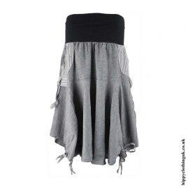 Grey-Ruffle-Skirt