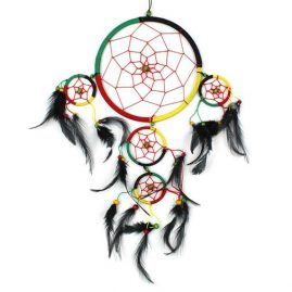 Large-Five-Ring-Round-Rasta-Hippy-Dreamcatcher-with-Bright-Feathers