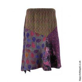 Multicoloured-Patterned-Skirt