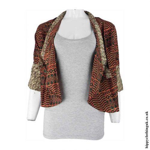 Open-Sari-Shrug-Striped