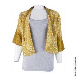 Open-Sari-Shrug-Yellow