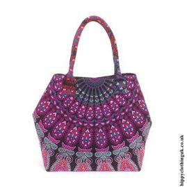 Pink-Peacock-Beach-Bag