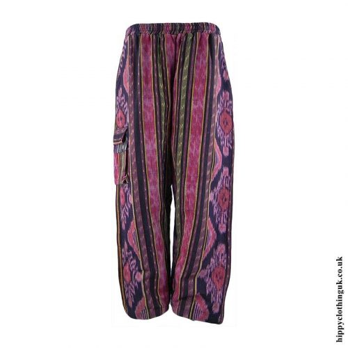 Pink-Woven-Hippy-Trousers