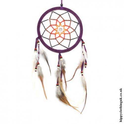 Purple-Beaded-Flower-Dreamcatcher