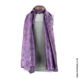 Purple-Recycled-Sari-Scarf