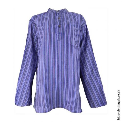 Purple-Striped-Grandad-Shirt
