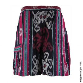 Red-and-Blue-Woven-Long-Shorts
