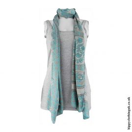 Turquoise-Recycled-Sari-Scarf