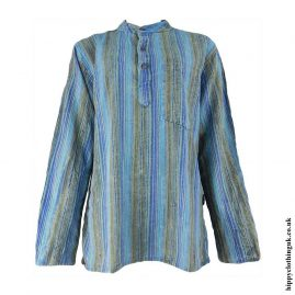 Turquoise-Striped-Grandad-Shirt