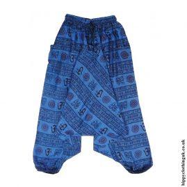 Blue-Om-Print-Ali-Baba-Harem-Trousers