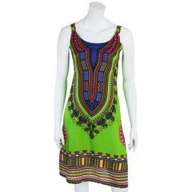 Green-Cotton-Dashiki-Dress