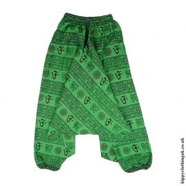 Green-Om-Print-Ali-Baba-Harem-Trousers