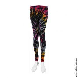 Multicoloured-Long-Tie-Dye-Hippy-Leggings