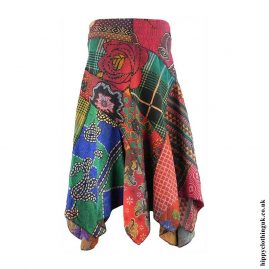 Multicoloured-Patchwork-Pixie-Hippy-Skirt