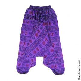 Purple-Om-Print-Ali-Baba-Harem-Trousers