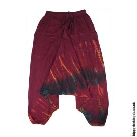 Red-Cotton-Hippy-Ali-Baba-Harem-Trousers