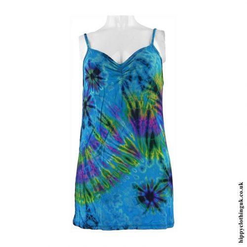 Turquoise-Tie-Dye-Hippy-Vest-Top