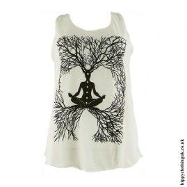 Cream-Chakra-Tree-Hippy-Vest-Top