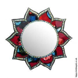 Flower-Shaped-Mosaic-Mirror-40cm