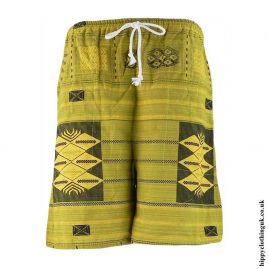 Green-Yellow-Long-Cotton-Hippy-Shorts
