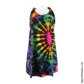 Multicoloured-Tie-Dye-Hippy-Blouse-Top