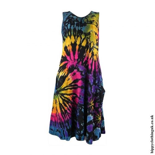Multicoloured-Tie-Dye-Hippy-Dress