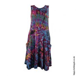 Multicoloured-Tie-Dye-Hippy-Dress