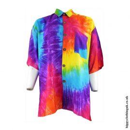 Multicoloured-Tie-Dye-Hippy-Shirt