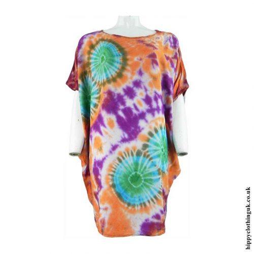Multicoloured-Tie-Dye-Rayon-Top
