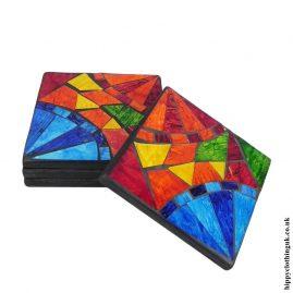 Multicoloured-set-of-4-Mosaic-Coasters-