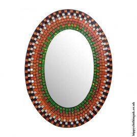 Orange-Oval-Mosaic-Mirror