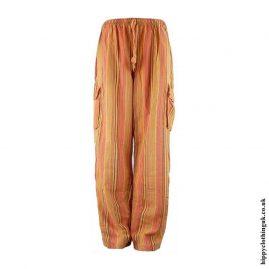 Orange-Striped-Cotton-Hippy-Trousers