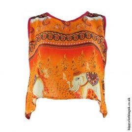 Orange-Thai-Elephant-Open-Back-Hippy-Top