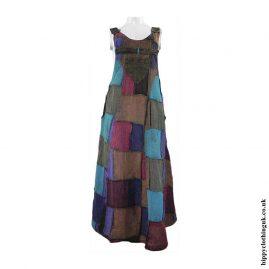 Patchwork-Dungaree-Dress