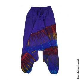 Purple-Cotton-Hippy-Ali-Baba-Harem-Trousers
