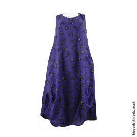 Purple-Cotton-Hippy-Bee-Dress