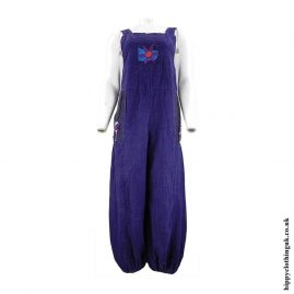 Purple-Hippy-Dungarees-with-Flower-Embroidery