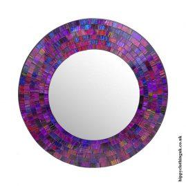 Purple-Round-Mosaic-Mirror-40cm