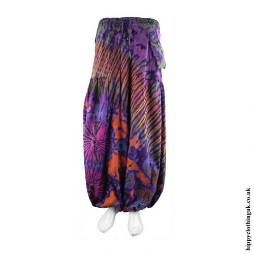 Purple-Tie-Dye-Cotton-Trousers