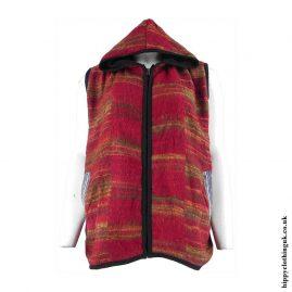 Red-Hippy-Gilet-Sleeveless-Jacket