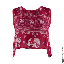 Red-Thai-Elephant-Open-Back-Hippy-Top