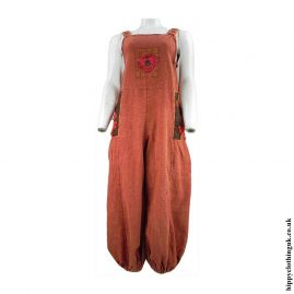 Rust-Hippy-Dungarees-with-Flower-Embroidery