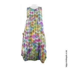 Tie-Dye-Leaf-Print-Balloon-Dress